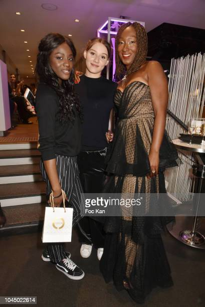 Assa Sylla Phillippine Stindel and Nadege BeaussonDiagne attend the Christophe Guillarme show as part of the Paris Fashion Week Womenswear...