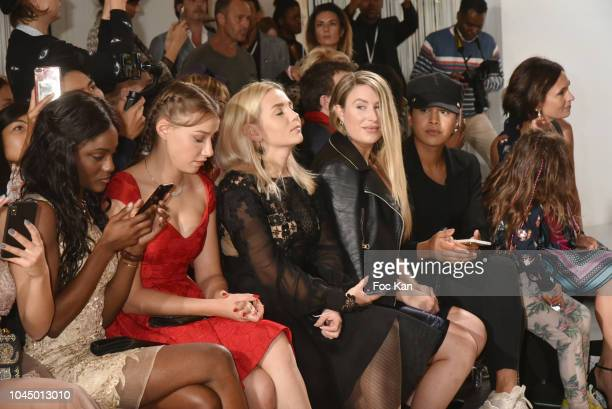 Assa Sylla Phillippine Stindel Ira Nekrashevich Caitlyn Massey Jay Strut and Adeline Blondieau attend the Christophe Guillarme show as part of the...