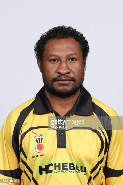 Assad Vala of Papua New Guinea poses during a Papua New Guinea headshots session at the Realm Hotel on February 14 2017 in Canberra Australia