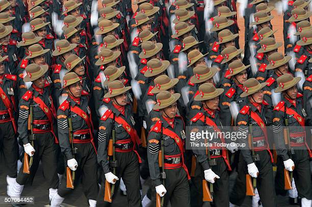 Assam Rifles during the 67th Republic Day Parade at Rajpath in New Delhi