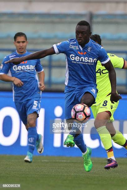 Assane Diousse' of Empoli FC in action during the Serie A match between Empoli FC and Bologna FC at Stadio Carlo Castellani on May 7 2017 in Empoli...