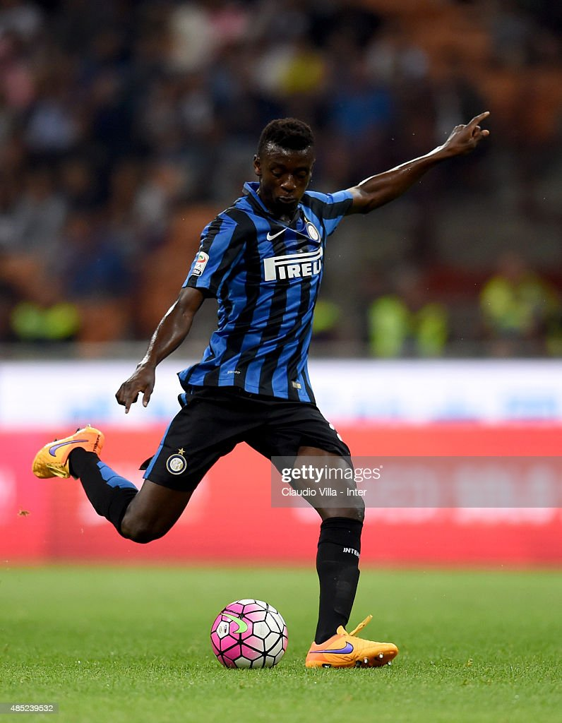 Assane Gnoukouri of FC Internazionale in action during the Serie A match between FC Internazionale Milano and Atalanta BC at Stadio Giuseppe Meazza on August 23, 2015 in Milan, Italy.
