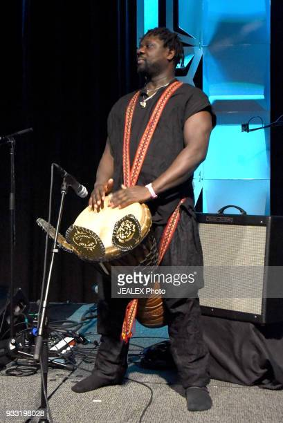 Assane of Gato Preto performs onstage at International Day Stage during SXSW on March 17 2018 in Austin Texas