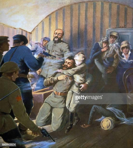 Assassinat du tsar Nicolas II et de sa famille à Iekaterinbourg le 17 juillet 1918 Russie
