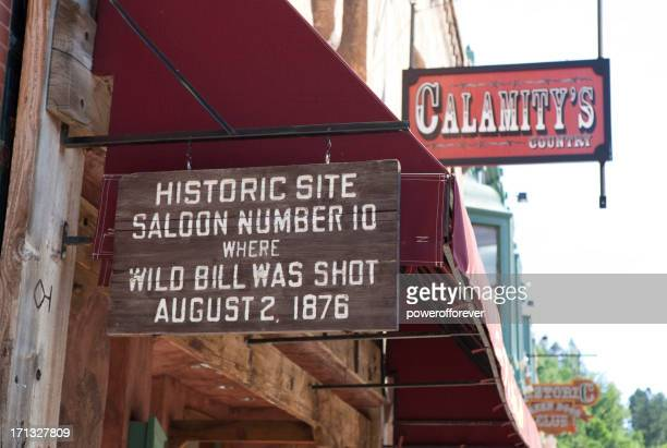assassination location of wild bill hickok - south dakota stock pictures, royalty-free photos & images