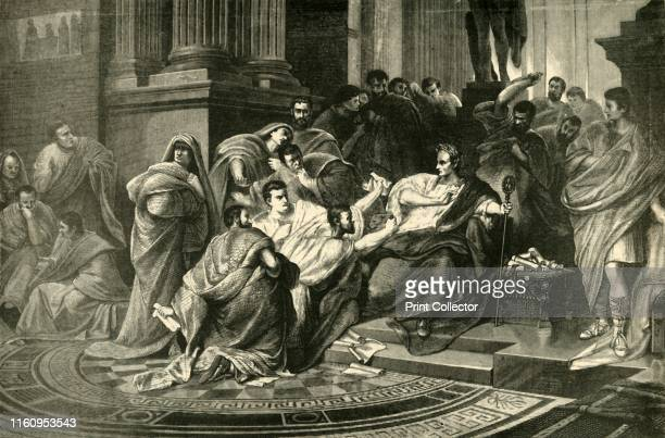 'Assassination of Julius Caesar' 1890 From Cassell's Illustrated Universal History Vol II Rome by Edmund Ollier [Cassell and Company Limited London...