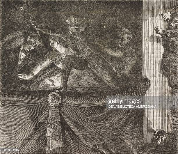 Assassination of Lincoln Ford's theatre in Washington United States of America illustration from Il Giornale Illustrato Year 2 No 21 May 27June 2 1865