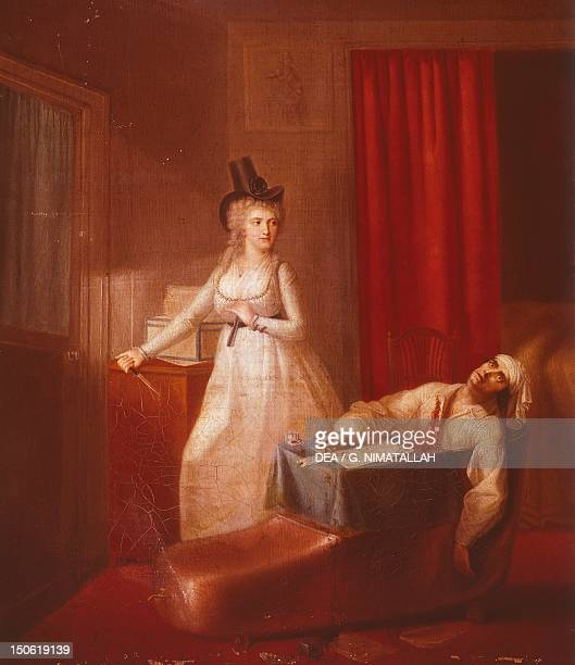 Assassination of Marat by Charlotte Corday painted by an unknown artist French Revolution France 18th century