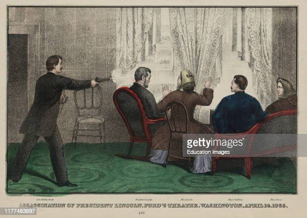 Assassination of President Lincoln Ford's Theatre Washington April 14 Published by EB EC Kellogg 1865
