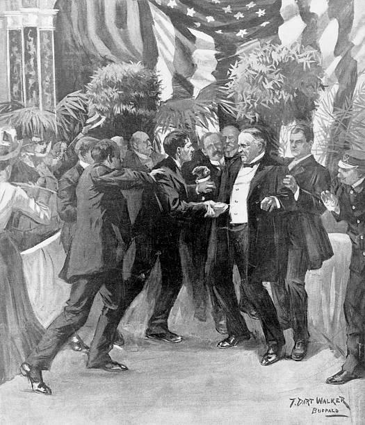 NY: 6th September 1901 -  Leon Czolgosz Fatally Wounds President William McKinley