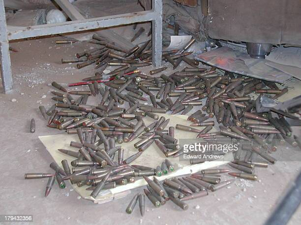 Assault rifle ammo discarded on the floor of the Iraqi guard building. I was a civilian volunteer member of a US Army Forward Engineer Support...