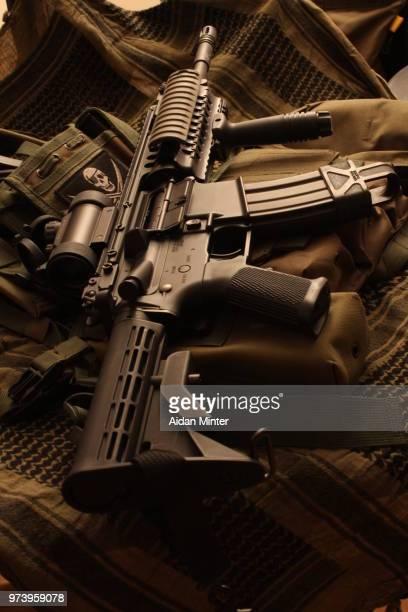 M4 assault rifle, Essex, England, UK