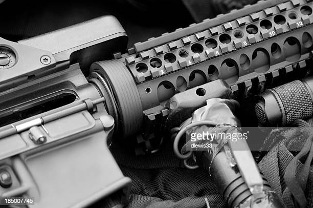 ar-15 assault rifle - ar 15 stock pictures, royalty-free photos & images