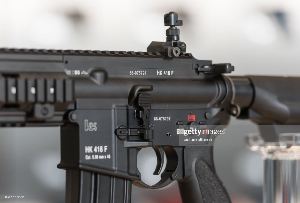 Airsoft Guns Danmark a hk416f assault rifle with grenade from the german weapons photo