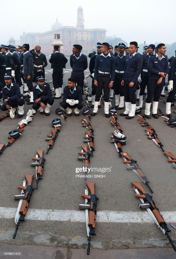 INDIA-REPUBLIC DAY-REHEARSAL : News Photo