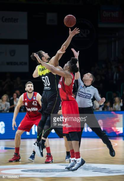 Assem Marei of medi bayreuth in action f during the easyCredit BBL match between medi bayreuth and FC Bayern Muenchen at Oberfrankenhalle on April 29...