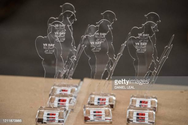 Assembled commemorative Tommy figures are prepared for shipping at the Royal British Legion Industries BBMC factory in Aylesford south east England...