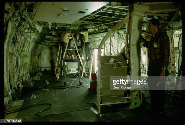 Assembling First Class Section on Boeing 747
