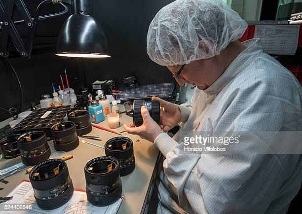 Assembling of LEICA VARIOELMARS 3090 mm f/3556 at Leica Camera AG complex in Wetzlar Germany 29 October 2014 Leica Camera AG is a premiumsegment...