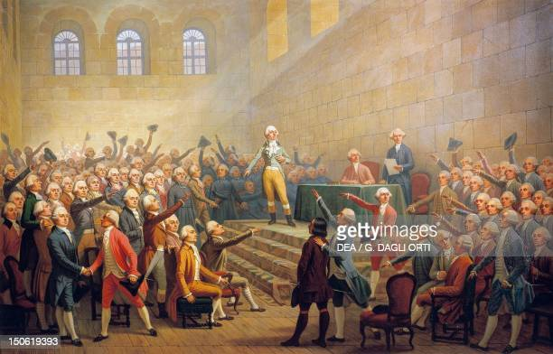 Assembly during tha French Revolution painting by Alexandre Debelle France 18th century