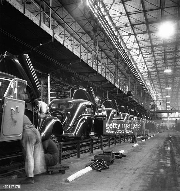 Assembly line at the Renault factory1938 in Boulogne Billancourt France