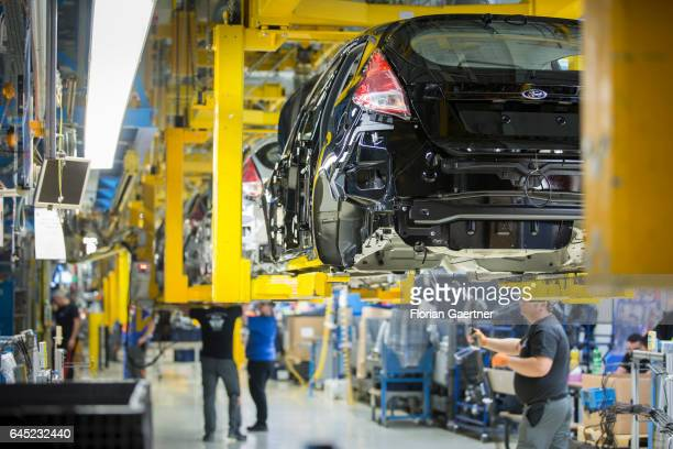 Assembly line for the production of the Ford Fiesta at the Ford plant in CologneNiehl on February 15 2017 in Cologne Germany