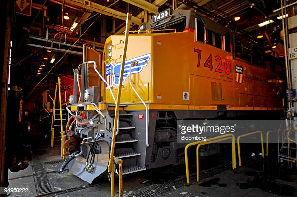 Assembly of a General Electric Co. GE Transportation locomotive for Union Pacific Corp. Nears completion at the GE plant in Erie, Pennsylvania, U.S.,...