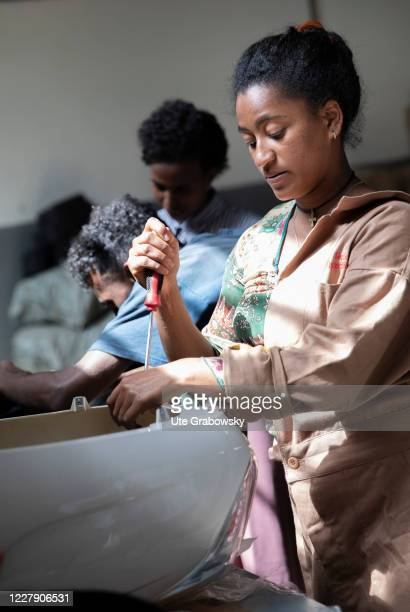 Assembly of a rickshaw with electric anti friction on December 03 2019 in Adis Abeba Ethiopia
