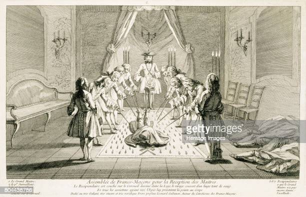 Assembly of Freemasons for the initiation of a master c1733 From The Ceremonies of Religion and Custom c1733 Artist Unknown