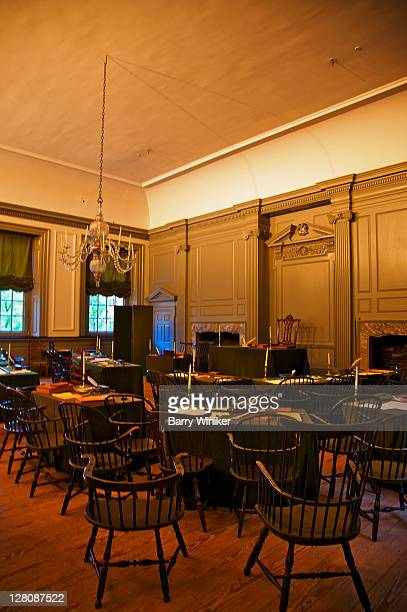 Assembly Room of Pennsylvania State House, now called Independence Hall, where Declaration of Independence and Constitution were created, Independence National Historical Park, Philadelphia, Pennsylvania