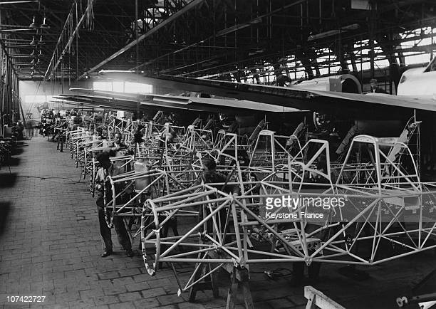 Assembly Workshop Of The Fokker Aviation Factory In Amsterdam On Thirties