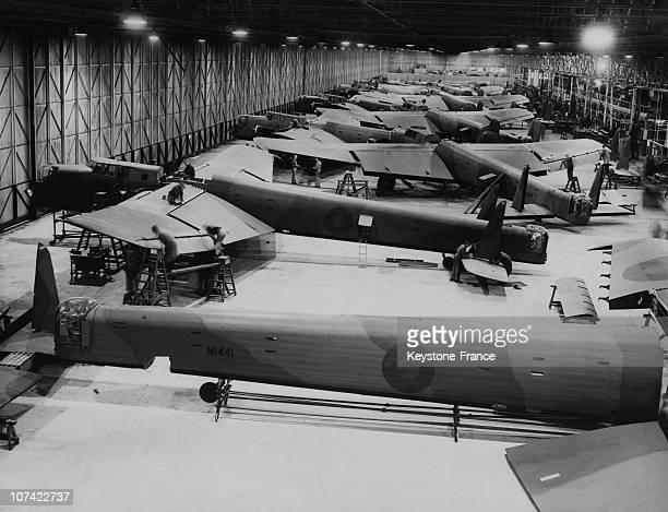 Assembly Workshops Of The Giant Bomber Whitley In England On December 1939