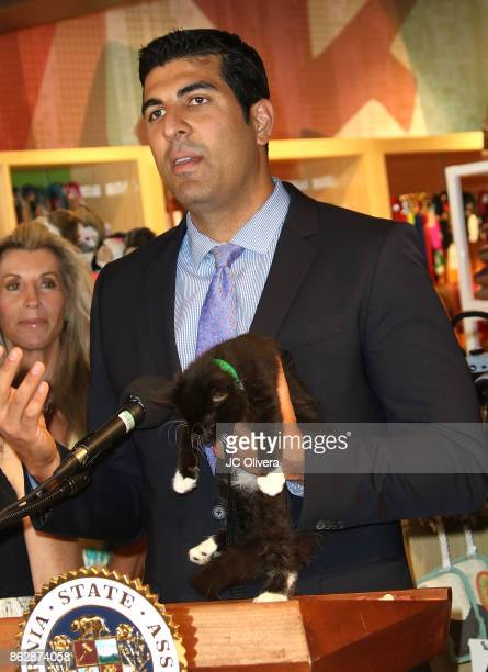 Assemblymember Matt Dababneh and AB 485 Author speaks during a press conference celebrating Calfornia Governor Jerry Brown signing California...