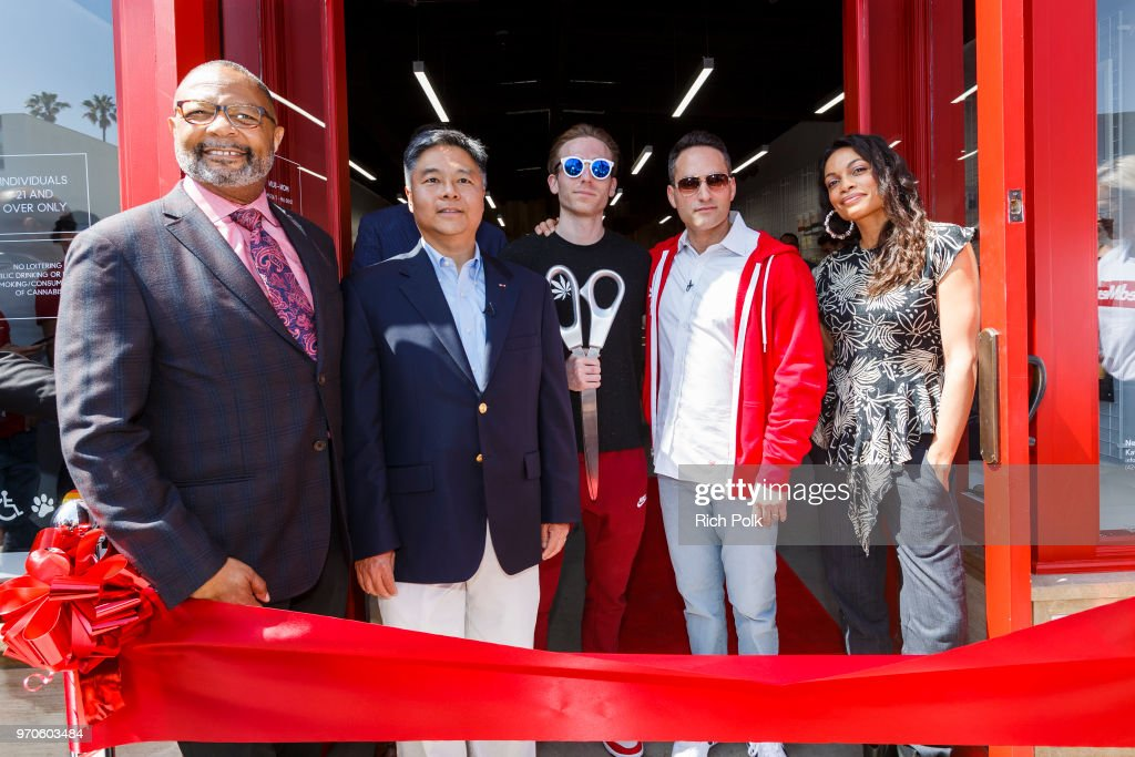 MedMen Celebrates the Opening of Abbot Kinney Store with a Ribbon Cutting Ceremony featuring Congressman Ted Lieu and Senator Ben Allen : News Photo