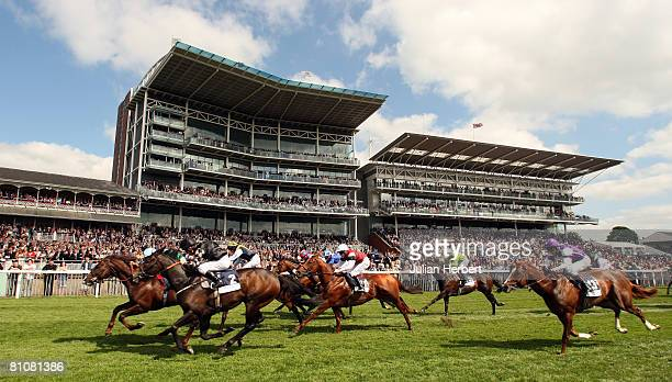 Assertive ridden by Ryan Moore edges in front of War Artist ridden by Kerrrin McEvoy to land The Duke Of York Hearthstead Homes Stakes Race run at...
