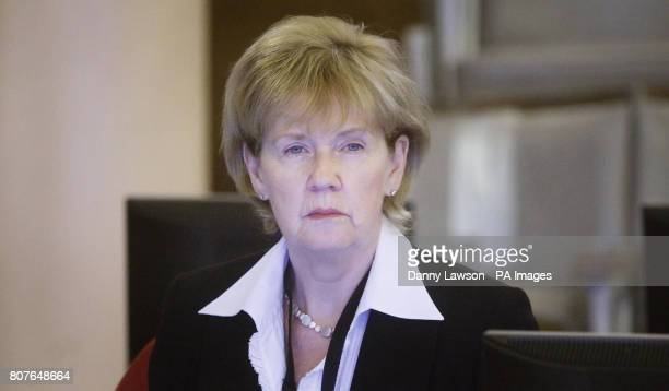 Assessor Mary Waddell during the inquiry into Clostridium difficile deaths at the Vale of Leven Hospital in Alexandria West Dunbartonshire last year...