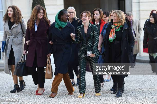Assia Benziane Secretary of Equality between women and men Marlene Schiappa Aissata Lam actress Emma Watson and director Lisa Azuelos attend the...