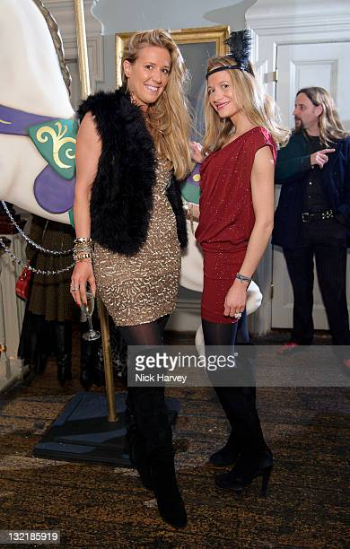 Assia Grazioli and Consuelo Remmert attend Alice & Olivia dinner hosted by Stacey Bendet at Paradise by Way of Kensal Green on November 9, 2011 in...