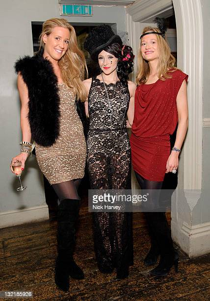 Assia Grazioli, Stacey Bendet and Consuelo Remmert attend Alice & Olivia dinner hosted by Stacey Bendet at Paradise by Way of Kensal Green on...