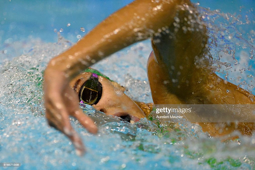 Assia Touati of France competes in the 200m Women's freestyle final on day four of the French National Swimming Championships on April 01, 2016 in Montpellier, France.