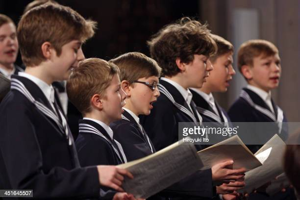 30150501ASt Thomas Boys Choir of Leipzig with Leipzig Baroque Orchestra led by Georg Christoph Biller performing the music of Bach and Vivaldi at the...