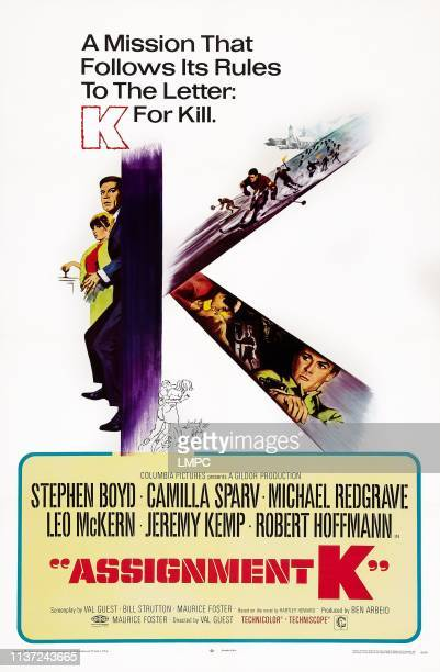 Assignment K poster US poster art left Camilla Sparv Stephen Boyd right Robert Hoffman 1968
