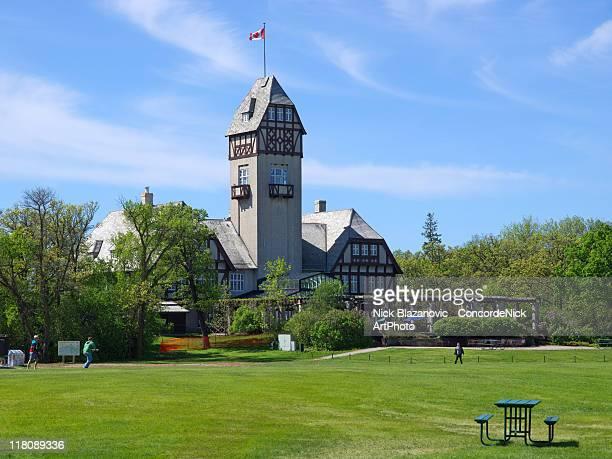 assiniboine park pavilion - winnipeg stock pictures, royalty-free photos & images