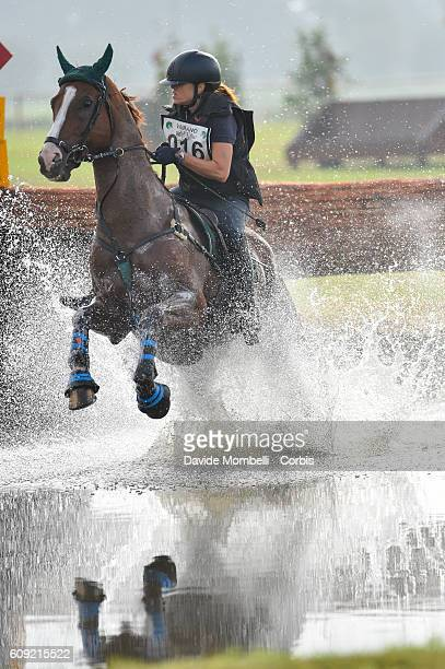"Assirelli Sabrina, ITA, riding Strategik Wing ""nduring the CIC2* Eventing on September 17, 2016 in Vidigulfo, Italy."