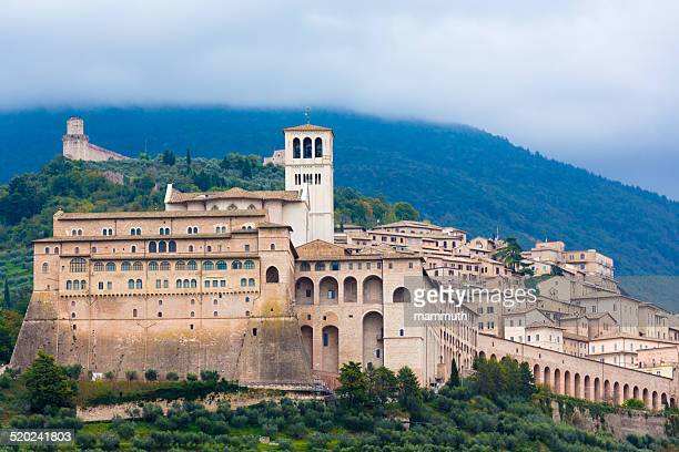 assisi in umbria, italy - umbria stock pictures, royalty-free photos & images