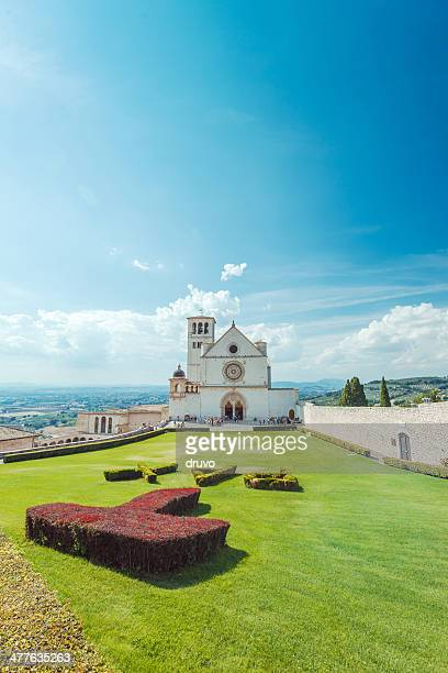 assisi, italy - st. francis of assisi stock photos and pictures
