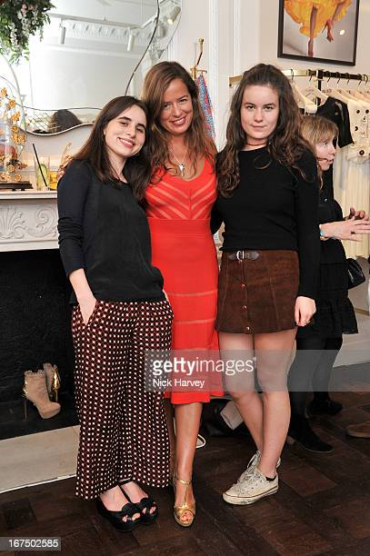 Assisi Lola Jackson Jade Jagger and Amba Jackson attend the Frocks and Rocks party hosted by Alice Temperley and Jade Jagger on April 25 2013 in...