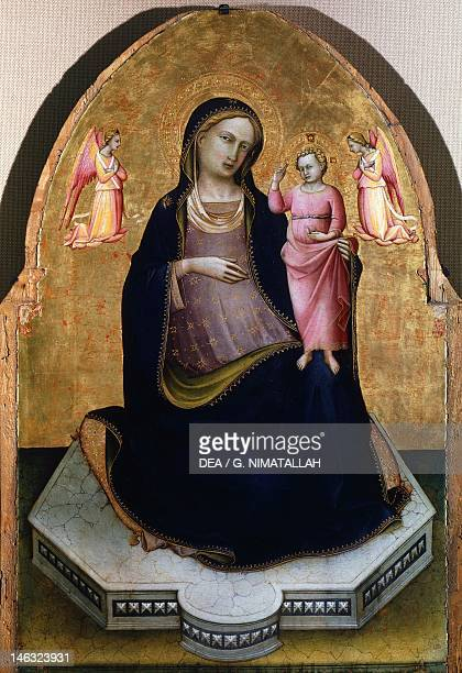Assisi Museo Del Tesoro Della Basilica Di San Francesco E Collezione Perkins Madonna of the Humility by Lorenzo Monaco