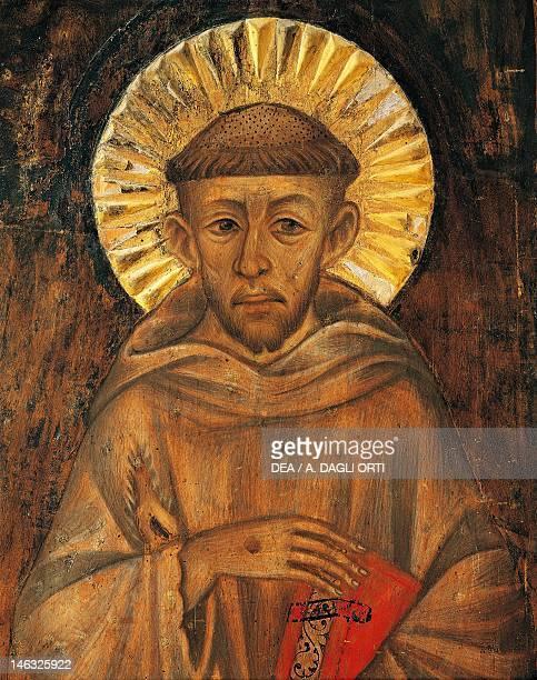 Assisi Museo Della Porziuncola St Francis attributed to Cenni di Pepo known as Cimabue Detail
