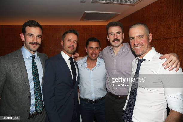 CAA Assistant Agent John MacGregor CAA Head of Theatre Joe Machota Talent Manager Nick Frenkel Chris Evans and CAA Motion Picture Agent Jim Toth pose...